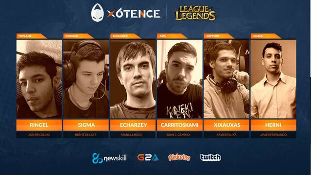 x6tence presenta a su nuevo equipo de League of Legends