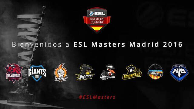 Estos son los equipos que estarán en ESL Masters Madrid 2016