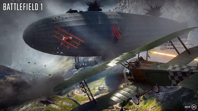 El bug más increíble de Battlefield 1: enormes zepelines que se convierten en tormentas de fuego