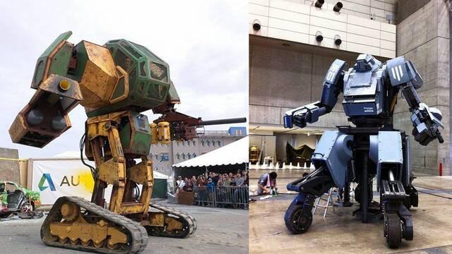 Estados Unidos vence a Japón en una lucha de robots gigantes