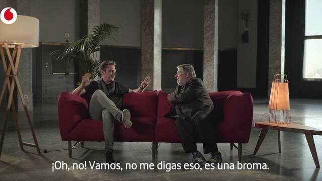 Ocelote se reúne con el cofundador de Apple en el último anuncio de Vodafone