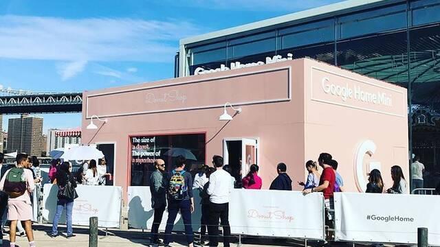 Así es la tienda de donuts de Google para promocionar los Home Mini