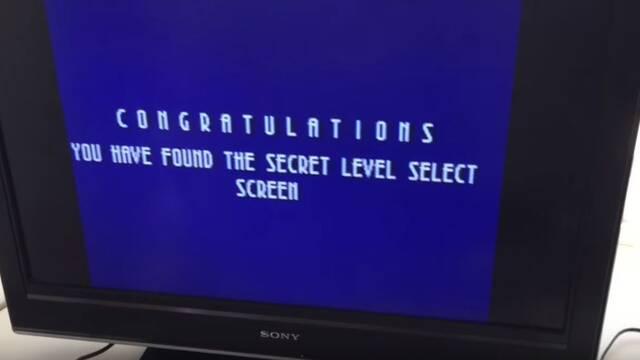 El menú secreto al golpear el cartucho de Sonic 3D era en realidad una pantalla de error