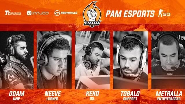 PAM eSports presenta a su nuevo equipo de CS:GO