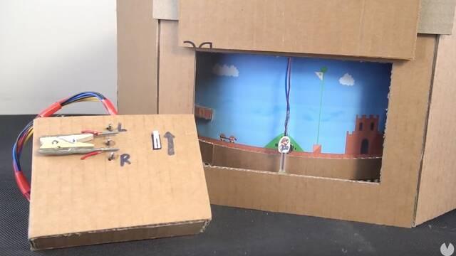 Construyen una réplica funcional de Super Mario Bros en papel y cartón