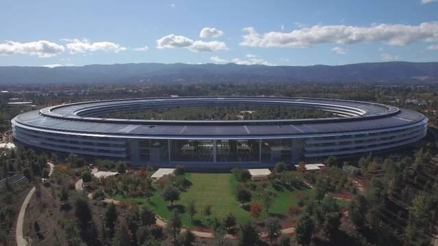 Así es el Apple Park a vista de dron