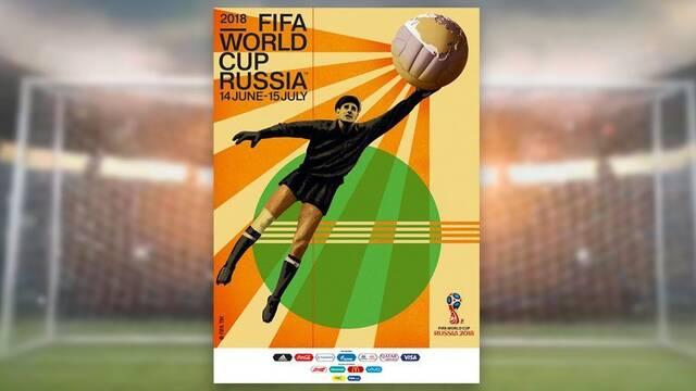 El póster oficial del Mundial de Rusia despierta opiniones enfrentadas en Twitter