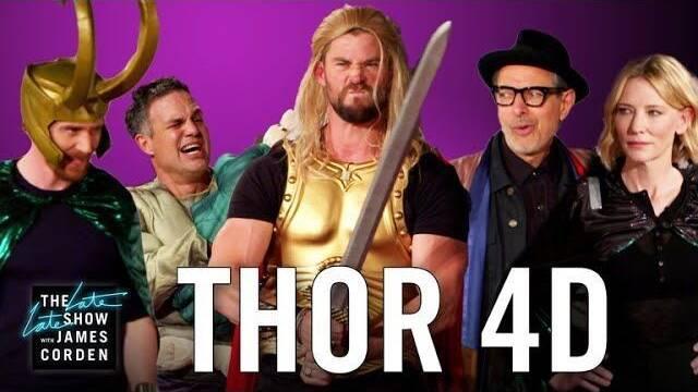 Los actores de Thor: Ragnarok la interpretan en versión 'low cost'