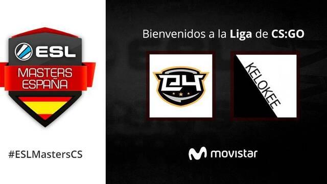 Eu4ia y KELOKEE ya están dentro de la ESL Masters España de CS:GO