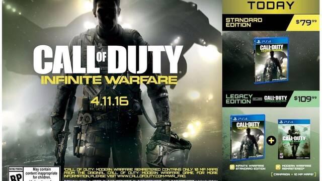 Modern Warfare Remastered e Infinite Warfare confirmados