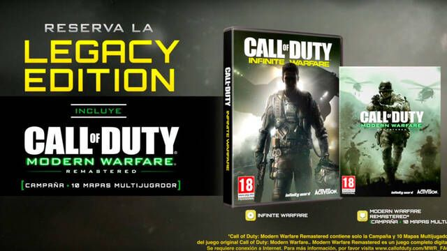 Call of Duty: Infinite Warfare y Modern Warfare Remastered son oficiales; primer tráiler