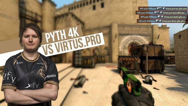 pyth de NiP fulmina a los jugadores de Virtus.Pro con su pistola