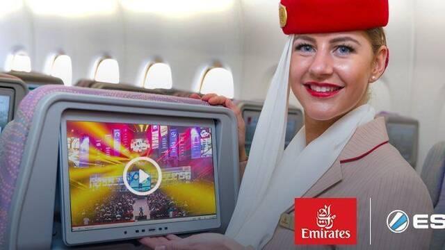 Los aviones de Emirates Airlines tendrán a bordo contenidos de esports de la ESL