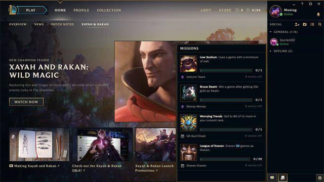 League of Legends tendrá misiones diarias con recompensas en forma de skins