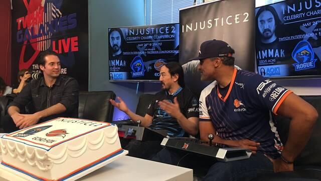 Steve Aoki y Rick Fox se enfrentaron en Injustice 2 en un stream benéfico