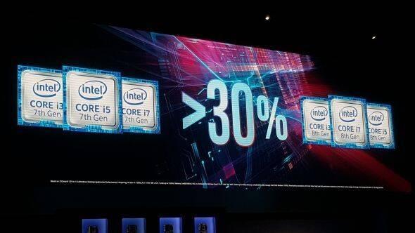 Intel promete un 30% más de rendimiento con los procesadores de 8ª generación