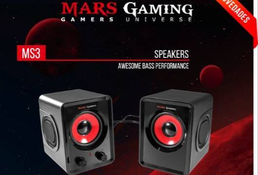 MS3 son los nuevos altavoces pro-gaming de Mars Gaming