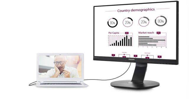 Philips lanza el monitor 241B7QUPEB, una pantalla base para portátiles