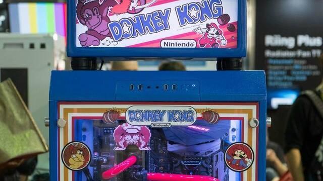 Así es el ordenador de Donkey Kong que ha vuelto locos a los a los asistentes del Computex