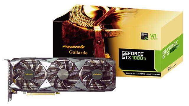 Manli GeForce GTX 1080Ti Gallardo con iluminación RGB, una tarjeta gráfica a tener en cuenta