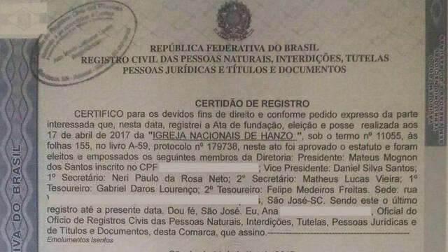 Hanzo tendrá su propia iglesia en Brasil