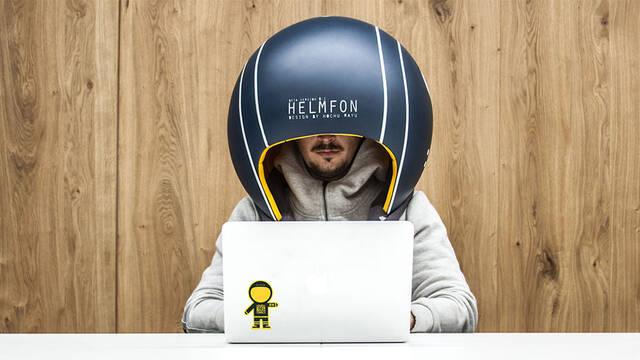 Helmfon, el enorme y extraño casco para aislarte de todo el ruido exterior