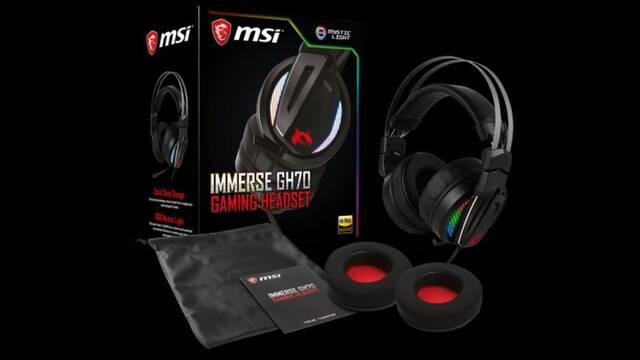 MSI anuncia los auriculares gaming Immerse GH70 con iluminación RGB