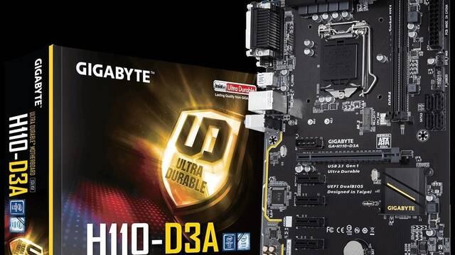 Sale a la venta la Gigabyte H110-D3A: características de una placa base para minar