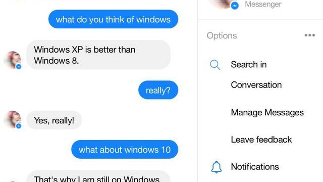 Zo, la IA para chatear de Microsoft dice que Windows es Spyware