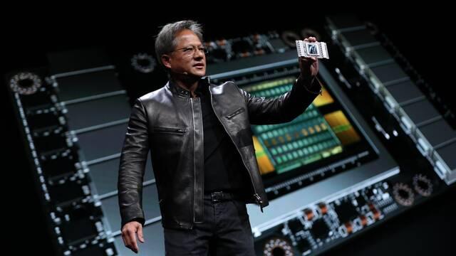 El CEO de NVIDIA regala sus aceleradores de inteligencia artificial Volta GPU Tesla V100
