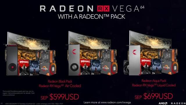 AMD podrá a la venta las AMD RX Vega en packs en los que incluyen juegos y descuentos