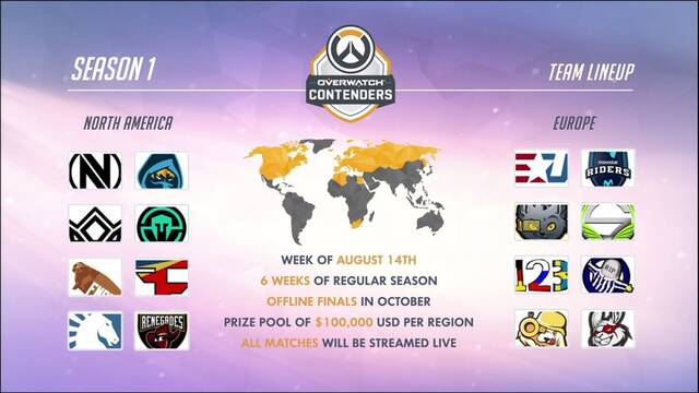 La Temporada 1 de Overwatch Contenders comenzará el 14 de agosto
