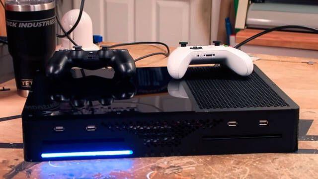 Construyen una consola híbrida de Xbox One y PS4