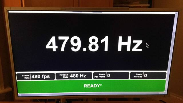 Afirman haber recibido un monitor con 480 Hz de refresco