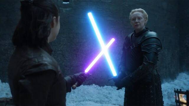 Juego de tronos y Star Wars se cruzan en esta batalla épica
