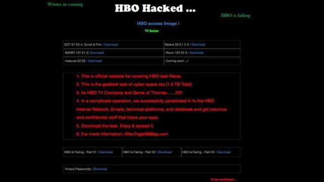 WinterLeak: Los hackers de HBO filtran Juego de Tronos y otras series