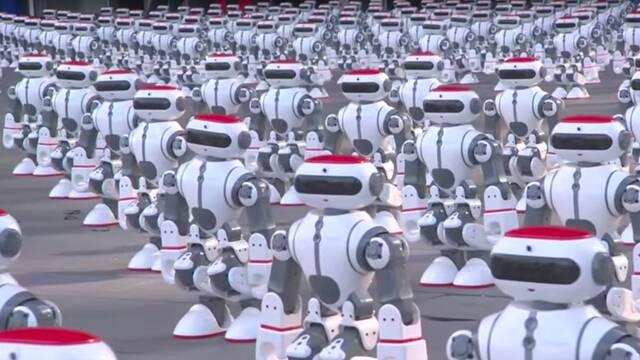 1069 robots bailarines baten un récord Guinness