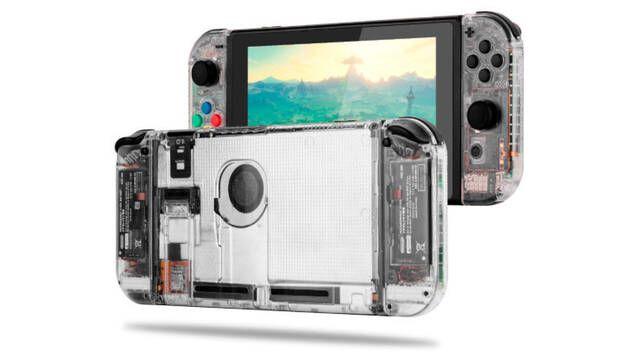 Llegan las primeras carcasas transparentes a Nintendo Switch