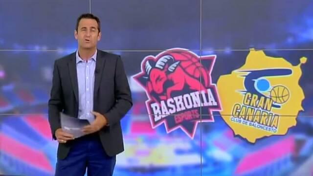 Un informativo confunde el escudo de ThunderX3 Baskonia con el de su equipo de baloncesto