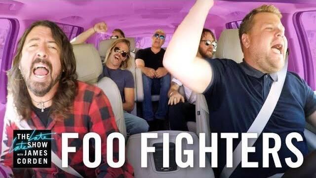 Tienes que ver el Carpool Karaoke de Foo Fighters