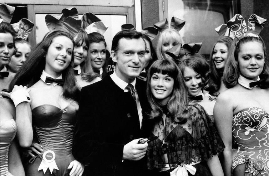Hugh Hefner en los días de vino y rosas.