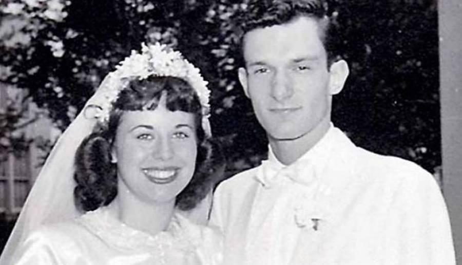 La primera esposa de Hefner, su único amor verdadero, le fue infiel mientras él servía en la Segunda Guerra Mundial.