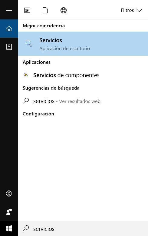 Servicios Windows 10
