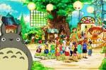 Studio Ghibli: Muestran un concepto artístico de la zona Totoro del parque de atracciones
