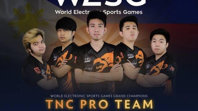 TNC Pro Team es el ganador del WESG  de DOTA 2