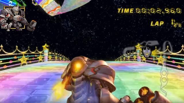 Reinhardt de Overwatch se convierte en piloto de Mario Kart