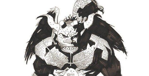 Mike Mignola comparte su primer boceto de Hellboy