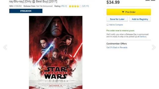 Star Wars: Los Últimos Jedi incluirá más de 2 horas de extras en su Blu-ray