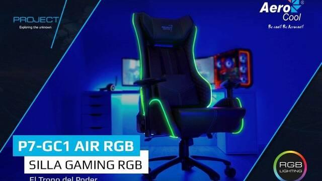 P7-GC1 RGB, la nueva silla con iluminación RGB de Aerocool