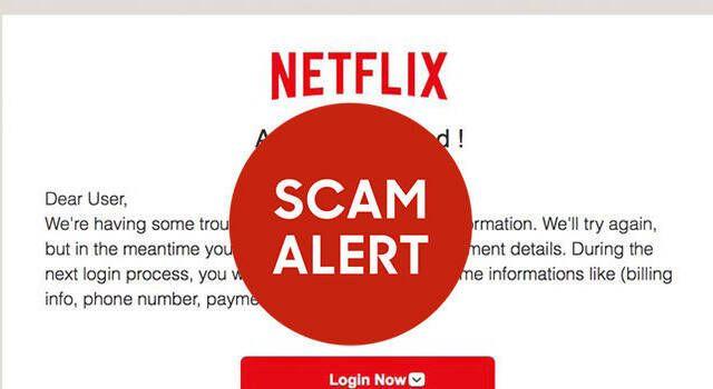 Cuidado: Un correo de Netflix falso pide los datos de tu tarjeta de crédito o débito
